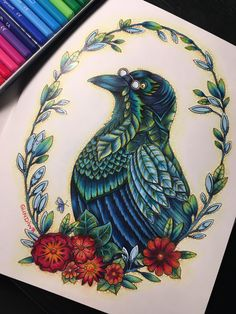 Pica, the Magpie from ***Ivy and the Inky Butterfly***Johanna Basford