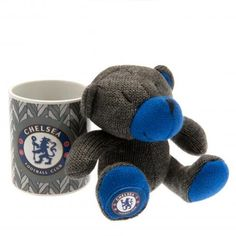 Chelsea mug and matching knitted teddy bear featuring the club crest. Two great football gifts for the price of one. FREE DELIVERY on all of our gifts Chelsea Fc, Chelsea Wallpapers, Football Accessories, Teddy Bear Gifts, Knitted Teddy Bear, Football Memorabilia, Soccer Gifts, Football Kits, Sport Football