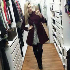 Look lindo de hj  vestido @annakareninaoficial e casaco de lã @modasmalise  Dia frio merece look quentinho  Beijos!!!! #lubyyou #dicasdalu #instafashion #instabeuty #instablogger #lookdodia #ootd #inverno2016 #lookquentinho
