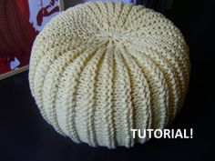 DIY Tutorial XXL Pouf Poof, Ottoman, Footstool, Home Decor, Pillow, Bean Bag, Floor cushion (Knitting Pattern) on Etsy, $5.26