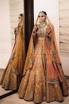 Indian Bridal Outfits, Indian Bridal Fashion, Indian Fashion Dresses, Indian Bridal Wear, Pakistani Bridal Dresses, Indian Designer Outfits, Dress Indian Style, Bridal Suits Punjabi, Indian Wedding Lehenga