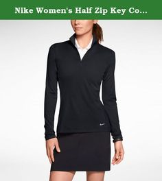 Nike Women's Half Zip Key Cover up (Small, Black). The Nike Half-Zip Key Women's Golf Cover-Up is made with soft, stretchy Dri-FIT fabric for lasting comfort on the course. The mock-neck profile creates custom coverage in this premium layer. Benefits: Dri-FIT fabric to wick sweat away and help keep you dry and comfortable. Stretch fabric for better range of motion. Mock neck that zips up to the chin to block out the elements. Product Details: Fabric: Dri-FIT 92% polyester/8% spandex…