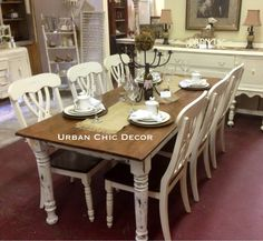 Merveilleux 7 Foot Farmhouse Table With Matching Chairs. Table Made From Repurposed 110  Year Old Yellow