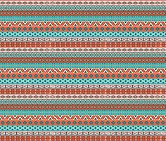 Campfire Tribal (Navajo) fabric by implexity on Spoonflower - custom fabric