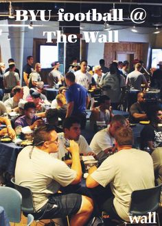 Words getting around about how good our food is! We fed the whole #BYU Football team! Can't wait for their season to start! #thewallbyu