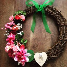 A personal favourite from my Etsy shop https://www.etsy.com/uk/listing/502713968/memory-wreath-12