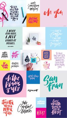 Cool hand lettering