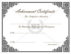Certificate of Excellence! FREE Certificate Templates for