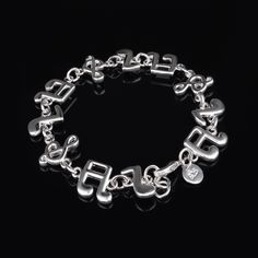 Charms Bracelet Musical Notes Pendants Bracelets & Bangles For Women 925 Sterling Silver Jewelry Femme Bileklik Pulseira love. Yesterday's price: US $3.93 (3.22 EUR). Today's price: US $2.40 (1.95 EUR). Discount: 39%.