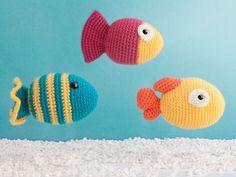 Amigurumi Fish - FREE Crochet Pattern / Tutorial here: http://mygurumi.blogspot.se/2008/11/chubby-fish-pattern.html