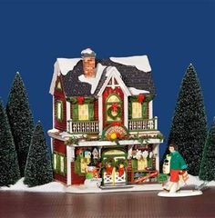 "$80.00-$80.00 Department 56 Snow Village Christmas Crafts Cottage - Need some extra yarn for your next project? ""Christmas Crafts Cottage"" is the destination for crafters in The Original Snow Village. This ceramic lighted building features birdhouses and snowman kits on the front porch. Designed and manufactured exclusively by Department 56. http://www.amazon.com/dp/B000Q7RNXO/?tag=pin2wine-20"
