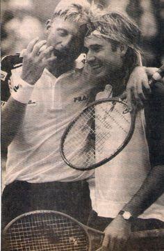 LEGENDS #agassi #becker #tennis boris becker | Tumblr