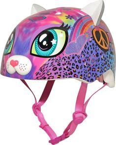 Raskullz Kids' Peace Love Kitty Helmet Pink - Bicycle Accessories at Academy Sports Little Girl Toys, Toys For Girls, Kids Toys, Little Girls, Toddler Girl Bike, Kids Knee Pads, Beach Theme Cupcakes, Halloween Disfraces, Bright Pink