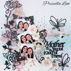 A project for 2Crafty Chipboards, which also doubles up as a Mother's Day gift :) Do check out blog link for more details. Thanks in advance. http://growingwithgabriel.blogspot.sg/2016/05/a-mother-is-special-kind-of-friend.html #scrapbook #2craftychipboards #mothersdaygift