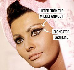 The Game-Changing Eyelash Trick Were Stealing from Sophia Loren White Eyeliner Makeup Eyelash GameChanging Loren Sophia Stealing Trick