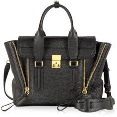 3.1 Phillip Lim Pashli Medium Satchel ($895) ❤ liked on Polyvore featuring bags, handbags, purses, bolsas, accessories, black, strap bag, expandable bag, 3.1 phillip lim handbag and 3.1 phillip lim bag