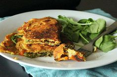 Chickpea Flour Omelette With Spinach, Onion and Bell Peppers [V, GF] | One Green Planet