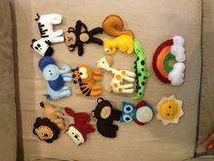 Felt animals I made for mobile...so cute!!