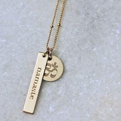Erica Sara Designs - Namaste Om Necklace, $104.00 (http://www.ericasaradesigns.com/namaste-om-necklace/)