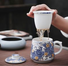 Chinese Sea Wave Office Tea Cup With Infuser Tea Cup With Lid, Chinese Tea Cups, Dragon Tea, Rare Words, Sea Waves, Coffee Cups, Tea Pots, Gift Sets, Tableware
