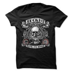 Lucky 7 Live To Ride Biker Chopper Motocycle T Shirts, Hoodies, Sweatshirts. BUY…