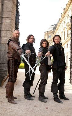 Still of Logan Lerman, Matthew Macfadyen, Ray Stevenson and Luke Evans in The Three Musketeers (2011)