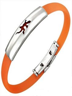 Lucky lizard bracelet in orange for men