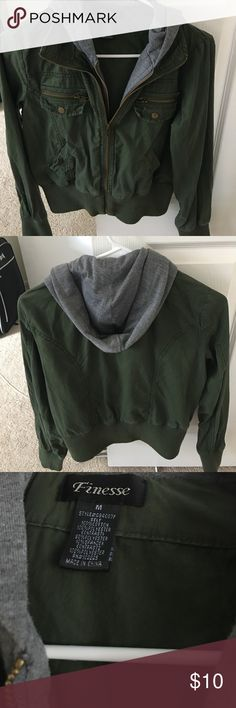 Cute jacket with hoodie. Used a couple times. Jackets & Coats