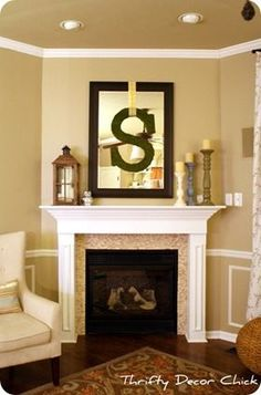 Decor Over Fireplace wednesday inspiration- mantles | initials, fireplaces and mantles