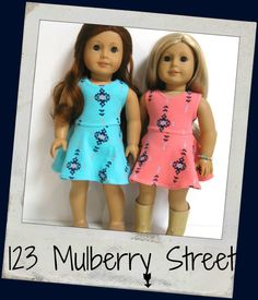 American Girl Doll Clothes Saige Skater Dress by 123MULBERRYSTREET