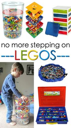 Ever step on a Lego? These stylish Lego storage ideas will corral all those Legos to keep your feet happy and pain free! Ever step on a Lego? These stylish Lego storage ideas will corral all those Legos to keep your feet happy and pain free! Lego Storage Boxes, Kids Storage, Storage Ideas, Toy Storage Solutions, Legos, Ideas Dormitorios, Step On A Lego, Lego Toys, Lego Games