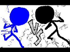 Old fight from flipnote hatena Gif - Stick Man Fight, Stick Figure Fighting, Stickman Battle, Stickman Animation, Stick Figure Animation, Fighting Gif, Cool Animations, Cute Comics, Stick Figures