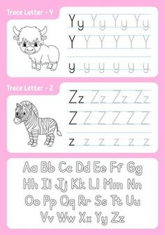 Alphabet Tracing Worksheets, Worksheets For Kids, Alphabet Coloring Pages, Tracing Letters, Uppercase And Lowercase Letters, Writing Practice For Kids, Learning The Alphabet, Letter Writing, Writing Activities