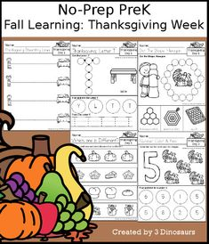 3 Dinosaurs - Fall Learning: Prek Thanksgiving Week Cursive Words, Cvce Words, Thanksgiving Words, Thanksgiving Activities For Kids, Short E Words, Making Words, Pre Writing, Skills To Learn, Sixth Grade