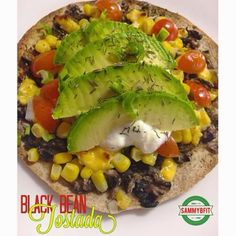 Who says you can't have a tostada without meat? This veggie filled tostada recipe will please your palate and you won't even begin to question where the beef is! Makes 1 tostada. Double/triple the batch . Coffe Recipes, Top Recipes, Raw Food Recipes, Mexican Food Recipes, Vegetarian Recipes, Healthy Recipes, Healthy Meals, Tostadas, Clean Eating Recipes