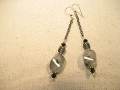 Prehnite Nugget Earrings by TheChiMuse on Etsy, $35.00