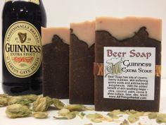 Guinness Beer Soap - Handmade, Natural - looks like a mug of beer - Perfect Gift for the Beer Lover, Groomsmen Gift