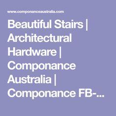 Beautiful Stairs   Architectural Hardware   Componance Australia   Componance FB-02-Black Wall Mounted Rail Bracket
