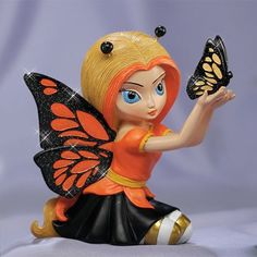 Beautiful as a Butterfly Fairy Figurine  Price $49.99 Butterfly Gifts, Butterfly Fairy, Cute Butterfly, Fairy Wallpaper, Moon Fairy, Fairy Pictures, Cute Fairy, Fairy Figurines, Art Station