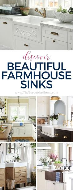 Farmhouse sinks are all the rage right now. A beautiful farmhouse kitchen sink (or farmhouse bathroom sink) will add the perfect touch to your decor. Farmhouse Bathroom Sink, White Farmhouse Sink, Copper Farmhouse Sinks, Farmhouse Style, Farmhouse Decor, Kitchen Sink, Decorating Your Home, Diy Home Decor, Decorating Ideas