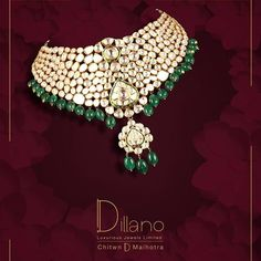 All your wedding preparations made easy as we handle your wedding jewellery! Polki diamond necklace with green stones will make you stand out on your D Day #seeyouatdillano ⚜️💎⚜️ #luxury #jewelry #weddingjewellery #polki #diamond #necklace #gold #indianweddings #weddingseason #bridalcollection #couture #luxurylifestyle #celebrationoflife #jewelrygoals