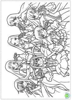 mermaid melody coloring pages hanon mermaid melody sirena