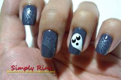 DIY halloween nails: DIY Halloween nail art : Nail Art Halloween Ghost