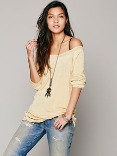 Free People Drifter Slouchy Pullover at Free People Clothing Boutique