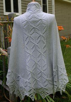 Knitted Shawl Pattern  PDF download Semicircular by TashaKnits, $5.95