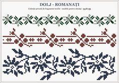 Folk Embroidery, Cross Stitch Embroidery, Cross Stitch Borders, Cross Stitch Patterns, Filet Crochet, Knit Crochet, Beading Patterns, Crochet Patterns, Knitting Charts
