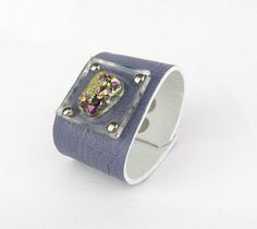 D R U Z Y & violet leather // cuff by Blydesign on Etsy, $70.00