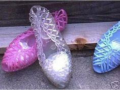 80s jelly shoes. I used to love these when I was a kid!