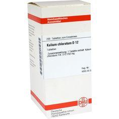 KALIUM CHLORATUM D 12 Tabletten:   Packungsinhalt: 200 St Tabletten PZN: 04222921 Hersteller: DHU-Arzneimittel GmbH & Co. KG Preis: 10,49…