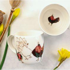 Anna Wright dole of doves york shaped fine bone china mug Anna Wright, China Mugs, Mixed Media Collage, Bone China, York, Shapes, Tableware, Dinnerware, Tablewares